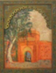 """Porte à Marrakech (Maroc), acrylic/paper, 26.5 x 34"""""""