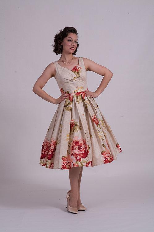 'Doris' Day Dress - Vintage Rose