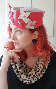 Hat 24. Stunning tri colour high pillbox