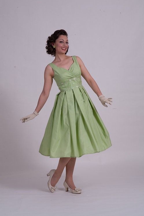 'Doris' Day Dress - Green Gingham