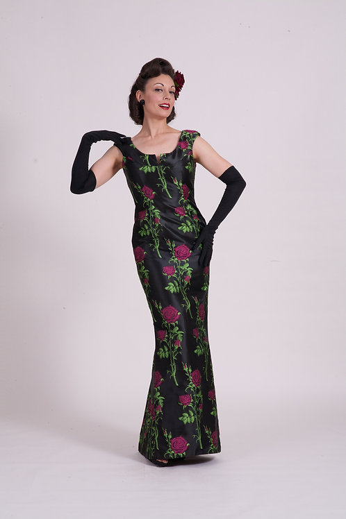 'Audrey' dress ( Long ) - Pink Rose Thorn