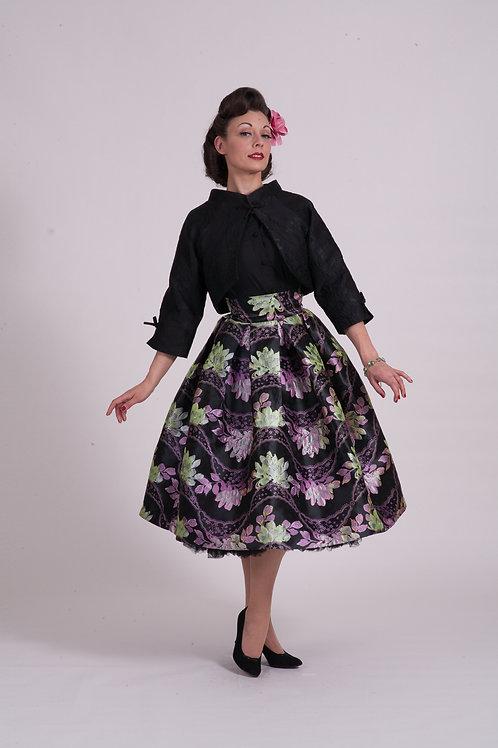 Kimono Jacket - Black Brocade