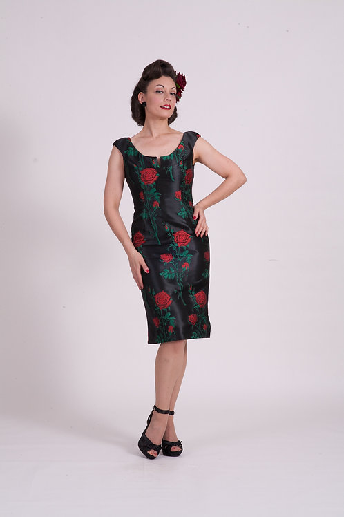 'Audrey' dress ( short ) - Red Rose Thorn