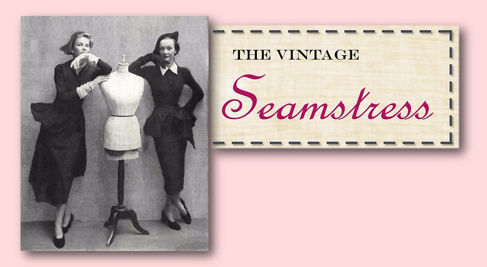 vintage seamstress dressmaker retro clothing