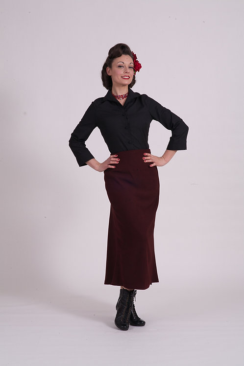 Bronte riding skirt - Red/Black striped