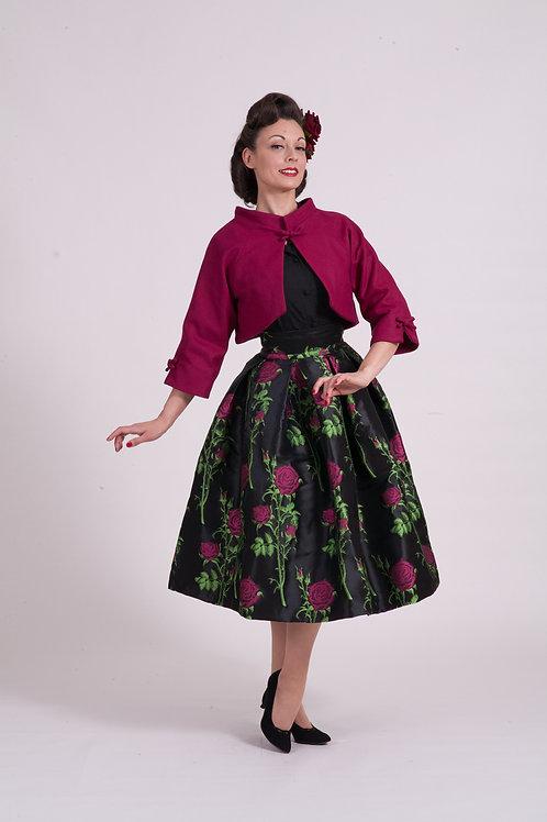 Kimono Jacket - Cerise Wool