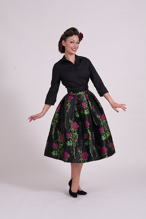 'Elizabeth' full skirt - Pink Rose Thorn