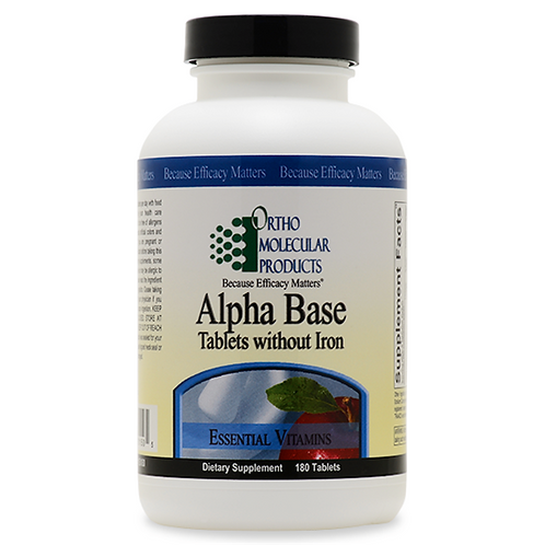 Alpha Base Tablets Without Iron 180 count