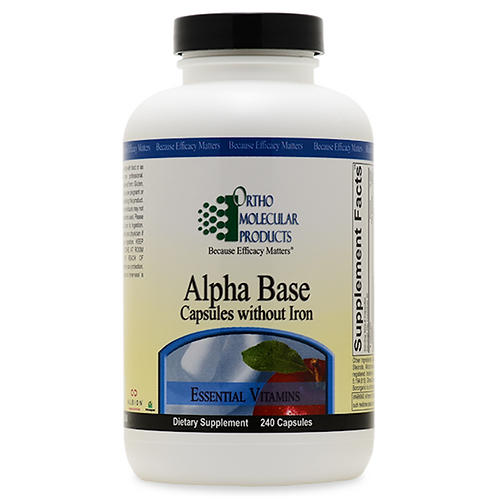 Alpha Base Capsules Without Iron 120 count
