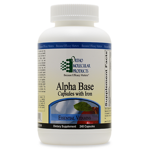 Alpha Base Capsules With Iron 240 count