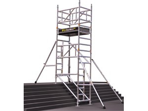 Do you work with mobile access tower on stairways?