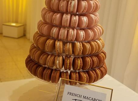 Macaron Tower for a Wedding