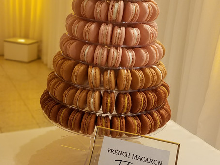Macaron Tower for a Wedding