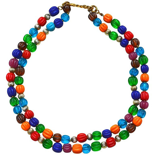 1950s Chanel Gripoix Bead  Necklace
