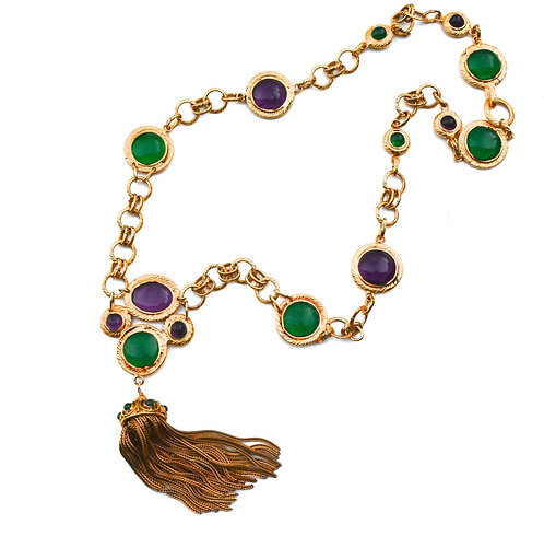 Vintage Chanel Gripoix Tassel Necklace