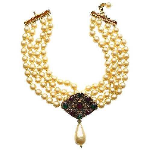 Vintage Chanel Baroque Pearl Choker