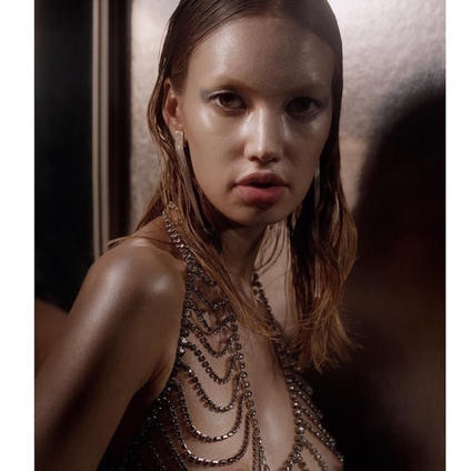 Bullet Magazine. Kid in vintage Bill Smith body jewelry from Sarara Couture.