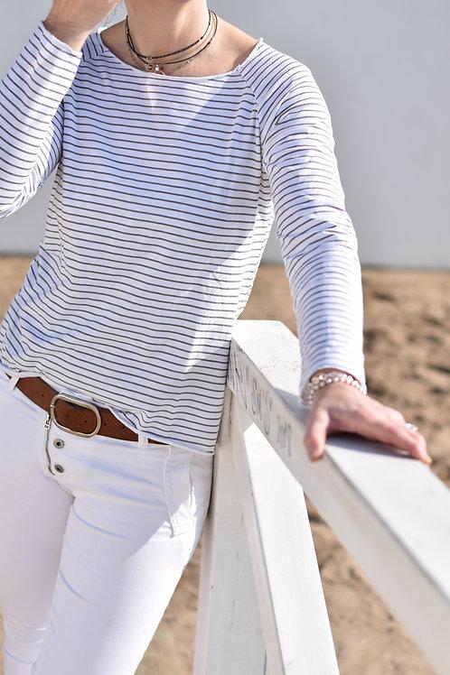 camiseta Newport blanca/marino