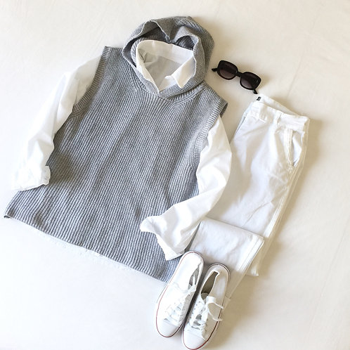 chaleco capucha gris