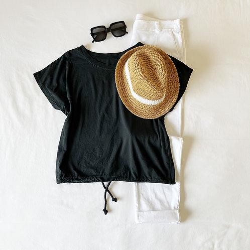 camiseta cordón negro