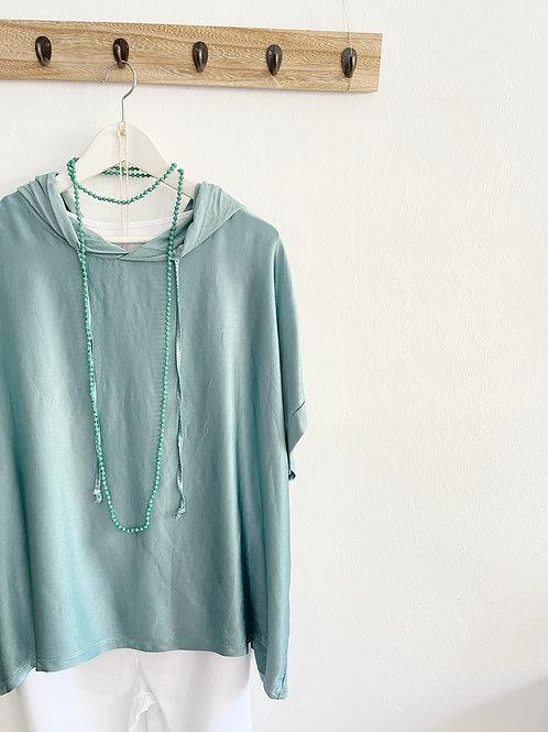 blusa Olimpia verde agua