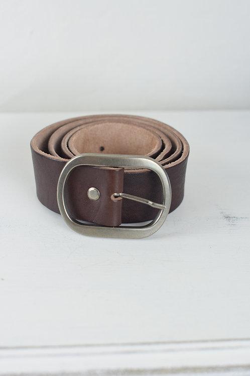 cinturón hebilla marrón