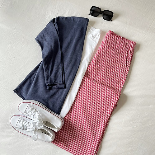 pantalón Vichy rojo