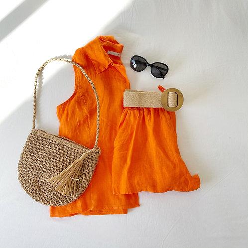 short  Nicole naranja