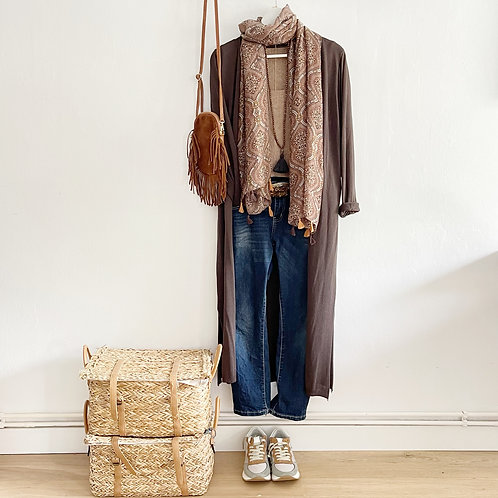 chaqueta Oxford marrón