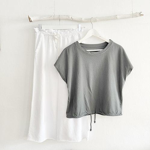 camiseta cordón gris