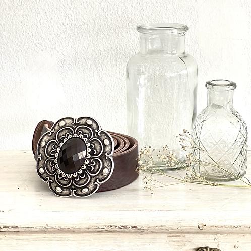 cinturón Fleur marrón