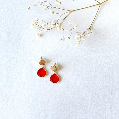 pendientes rojo anaranjado