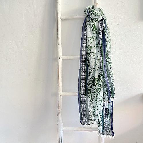 pashmina azul-verde