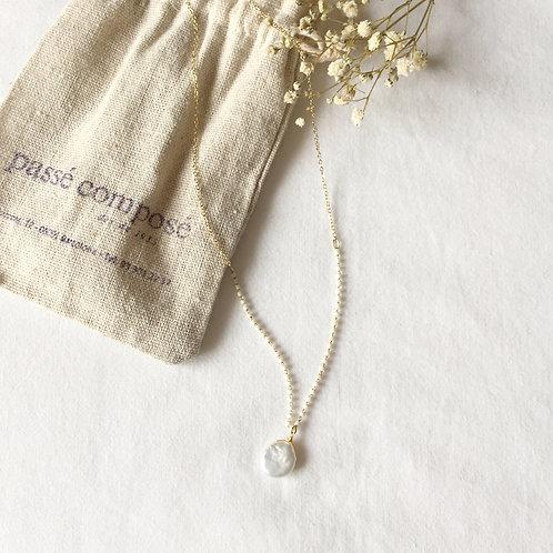 gargantilla bolitas perlas con perla