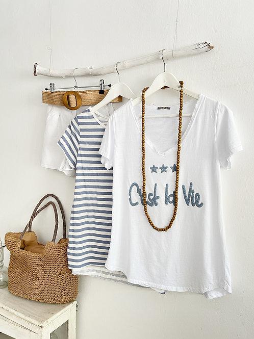 camiseta C'est la vie