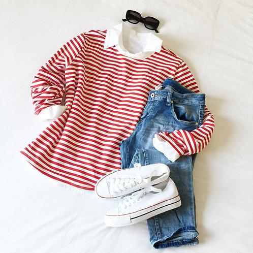 jersey Marsella rojo-blanco
