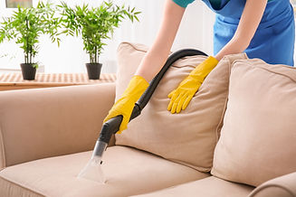 Vacuuming Couch