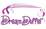 Pink purple and grey Dream Duffel logo