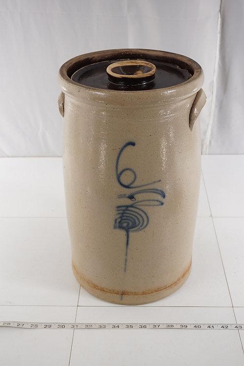 1890s Salt Glazed 6 Gal Bee Sting Butter Churn Crock - Red Wing