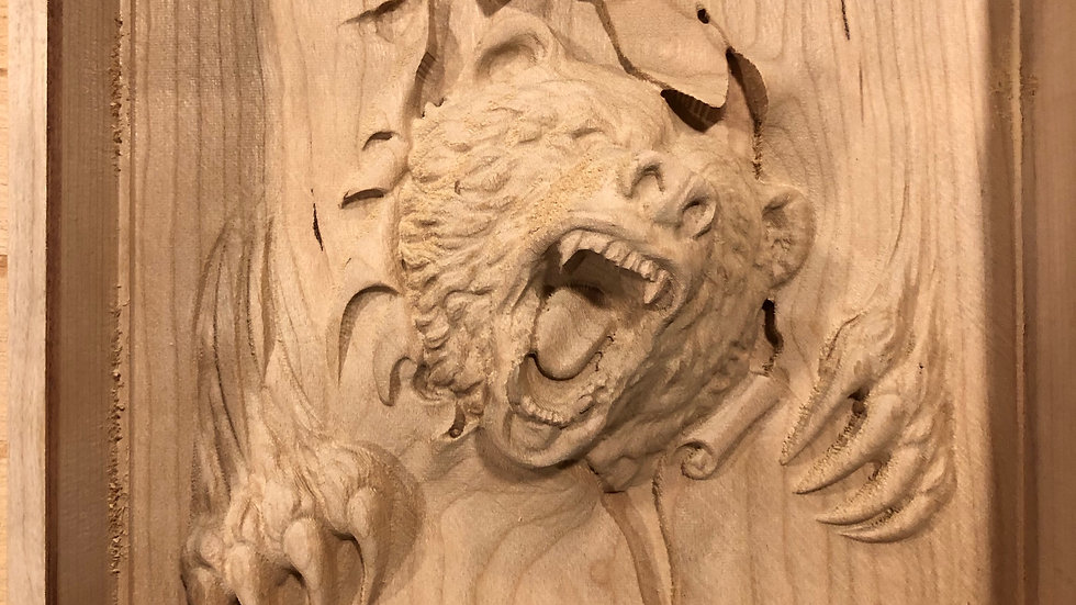 Angry Bear 3-D Carving