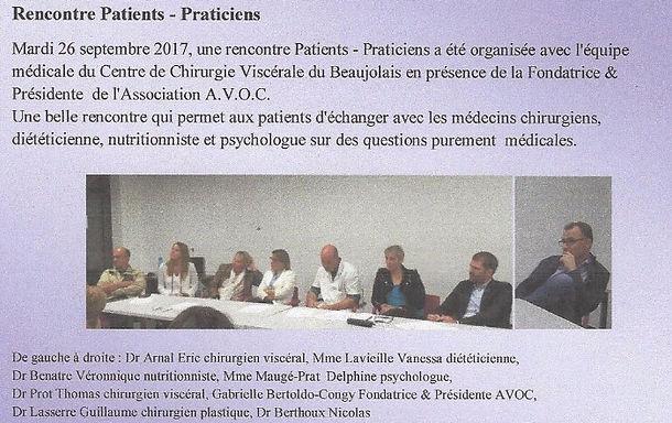 rencontre patients praticiens 26 septembre 2017