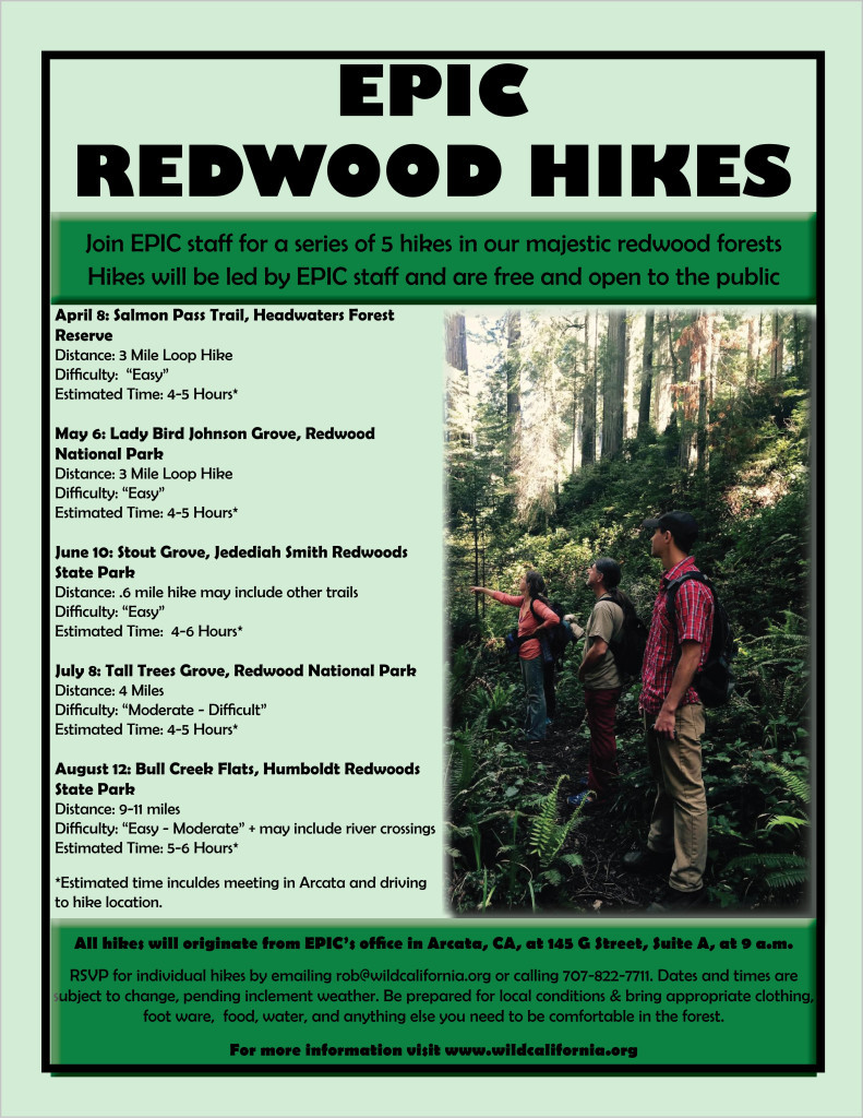 Redwood Hike Schedule