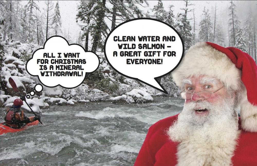 Santa and river image for alert