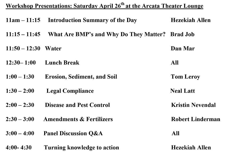 Workshop Presentations