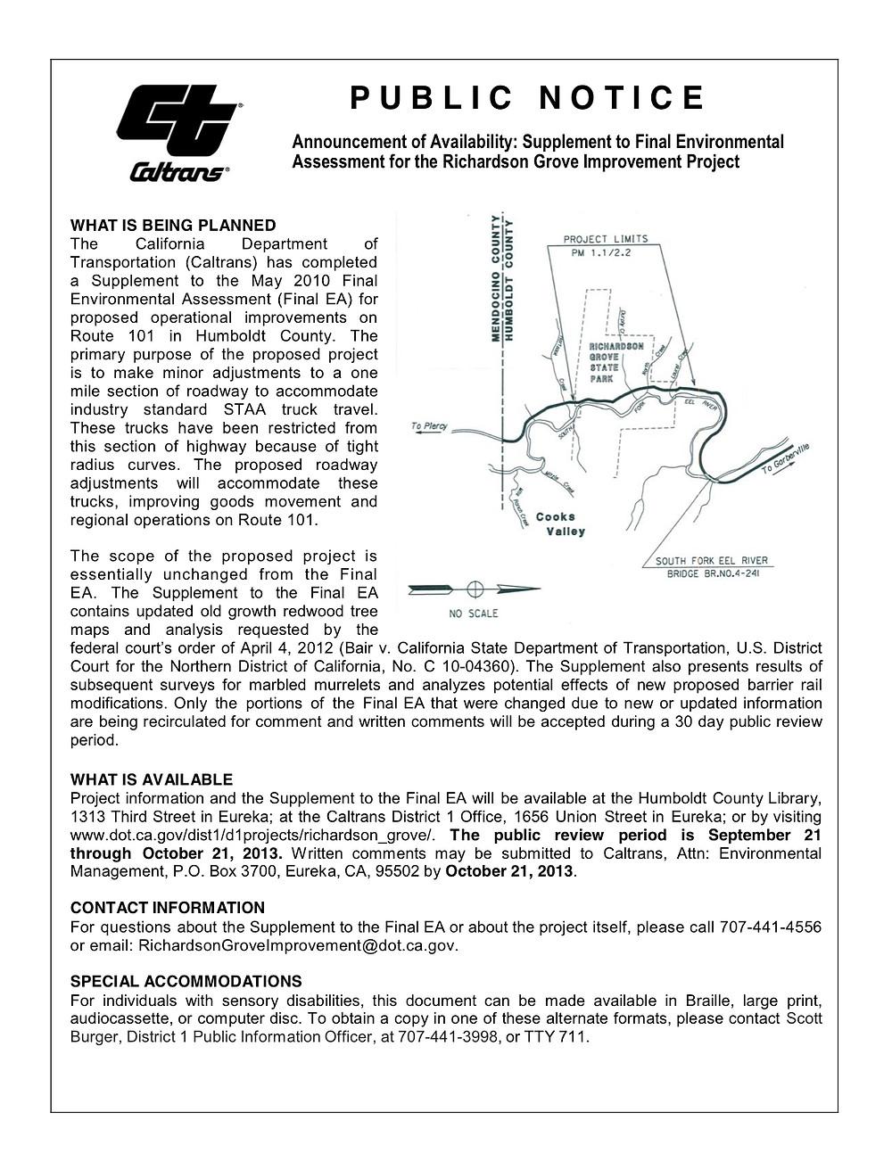 Caltrans-public_notice_richardson_grove_supplement_ea_09-2013