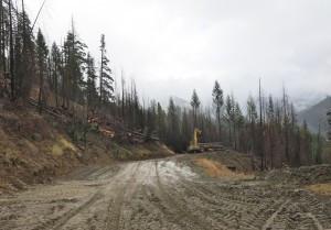 Wet Weather Logging in Klamath National Forest October 2014