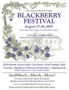 EPIC August Events: Covelo Blackberry Fest, Blue Lake Music Fest, and Outdoor Movie (CANCELLED)!