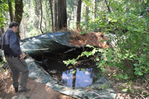 6,500 gallon cistern in wilderness backcountry. Photo by Mourad Gabriel