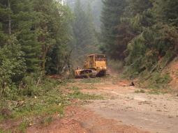 Dozer Line on Castle fire in South Complex