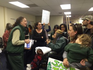 Concerned community members attend Forest Service meeting to oppose the Westside proposal.